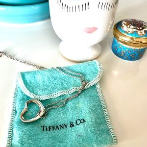 Tiffany sterling silver floating heart necklace
